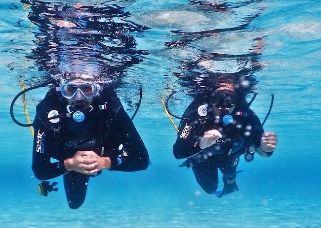 Steve and his wife enjoyed their first scuba diving experience in cozumel.
